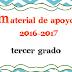 Material de apoyo: Primer Bimestre-Tercer Grado