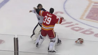 nhl hockey fight talbot vs smith