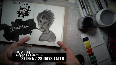 Selena from 28 Days Later  - Bad Ass Ladies of Horror - Inktober 2018
