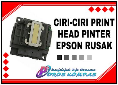 Ciri-Ciri Print Head Printer Epson Rusak