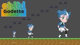 Chibi Godette Cutout Screenshot 3