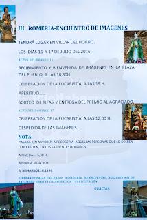 Programa Romería 2016 Villar del Horno
