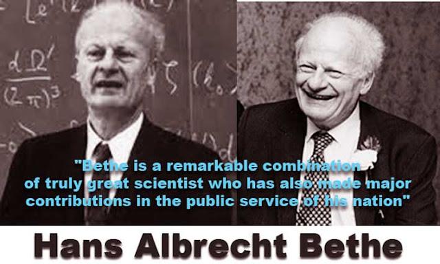 A brief biography of Hans Albrecht Bethe the Doctor Honoris Causa