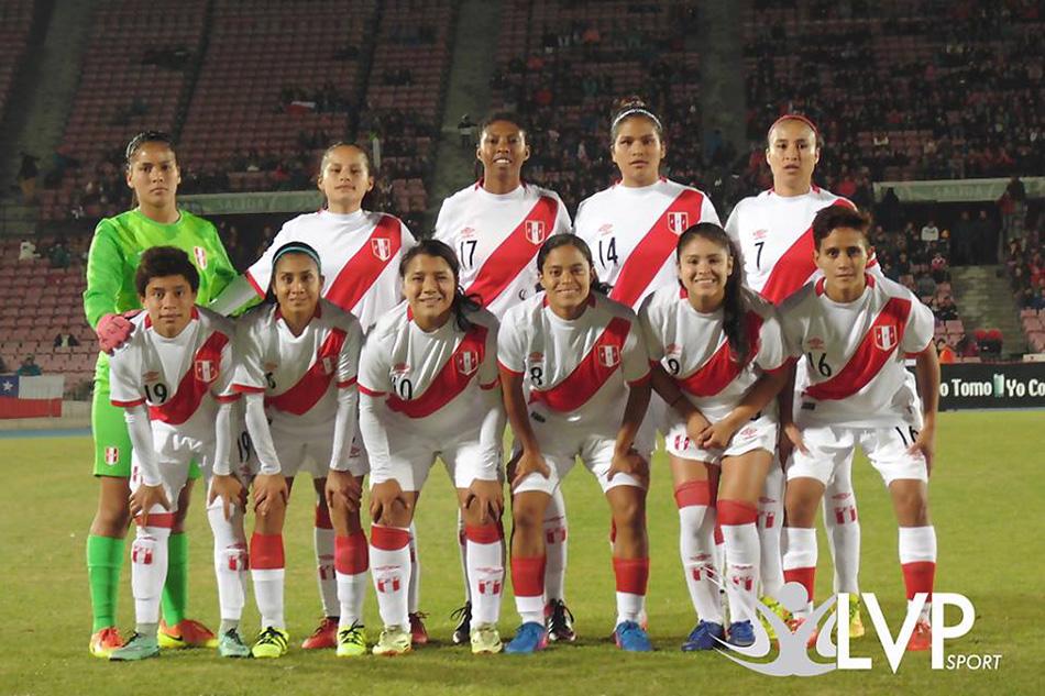 Formación de selección femenina de Perú ante Chile, amistoso disputado el 28 de mayo de 2017