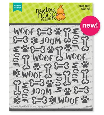 Woof Stencil by Newton's Nook Designs #newtonsnook