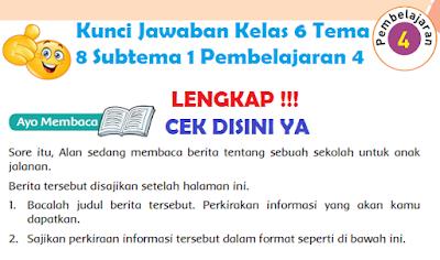 Kunci Jawaban Kelas 6 Tema 8 Subtema 1 Pembelajaran 4 www.simplenews.me