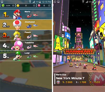 شخصيات اللعبة التى توفرها لعبة ماريو كارت تور