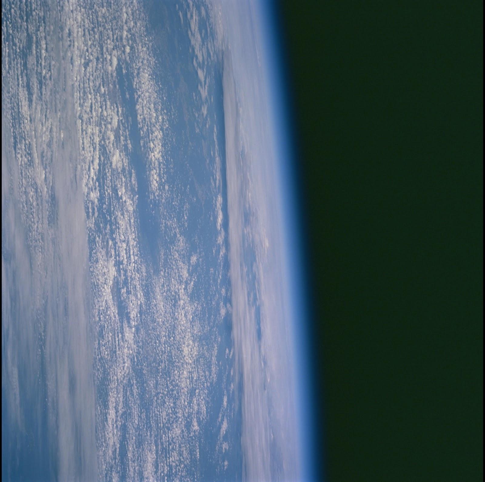 宇宙から見られた地球のヨーロッパ上空