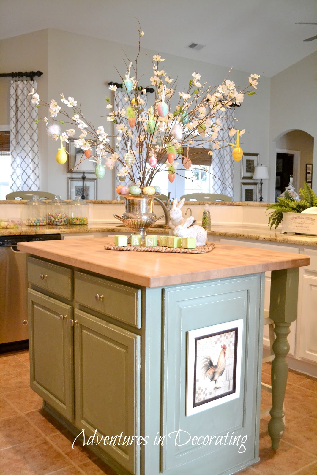 Kitchen Island Decorating Ideas Adventures In Decorating: Flowers Are Blooming In The Kitchen!