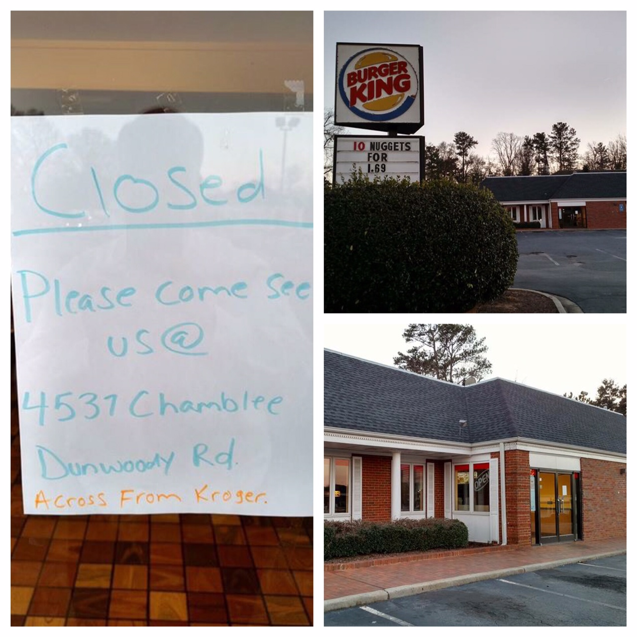 Tomorrow S News Today Atlanta Closure Alert Burger King