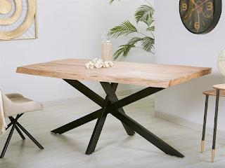 mesa bodega y salon grande rustica metal