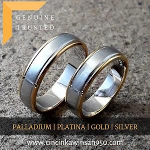 cincin kawin palladium pasangan 502