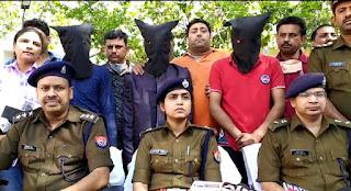दवा व्यवसाई के यहां हुई लाखो की डकैती का खुलासा कर अलीगंज पुलिस ने अपराधियो को भेजा जेल