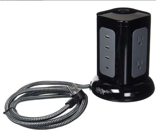 Tripp Lite Surge Protector Tower 6-Outlet 3X USB-A 1x USB C