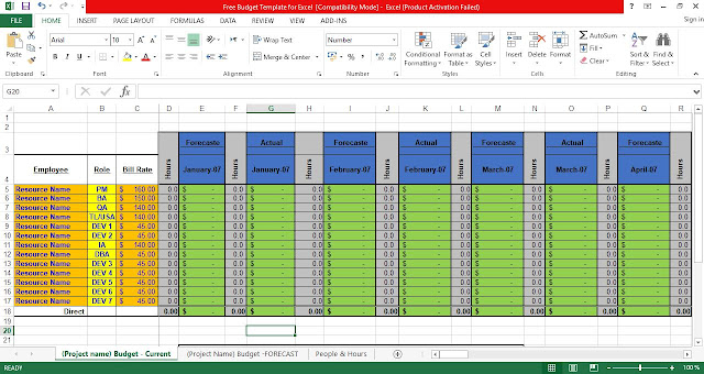 Free Budget Template for Excel