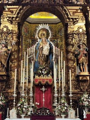 La Consejería de Cultura de Andalucía concede 30.000 euros para restaurar el retablo de la Virgen del Amparo (Sevilla)