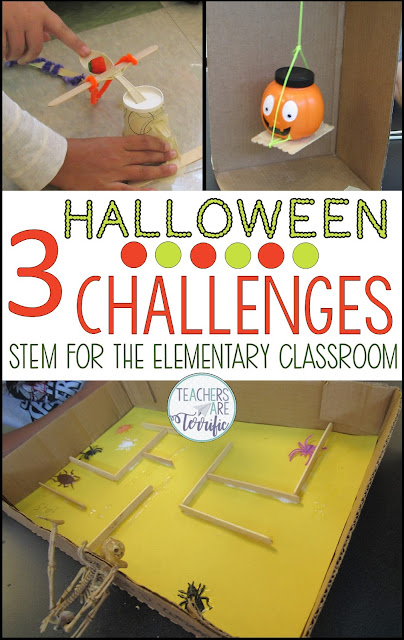 STEM and Halloween! This post has tips for using Halloween resources to create excitement and maintain engagement during the busy weeks leading up to Halloween. #teachersareterrific