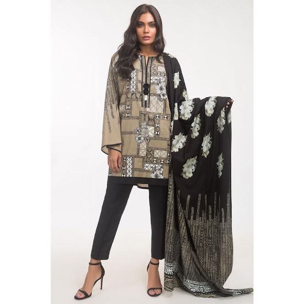 Gul Ahmed Dark green color suits ready to wear solid