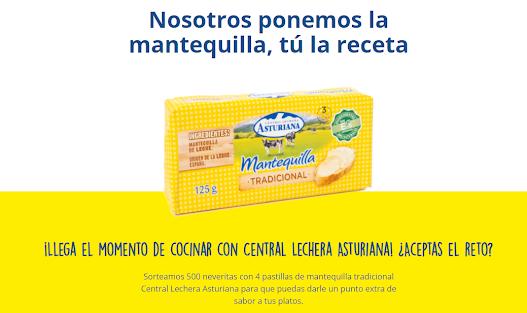 sorteo mantequilla Central Lechera Asturiana