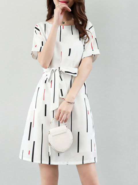 Skater dresses in white color
