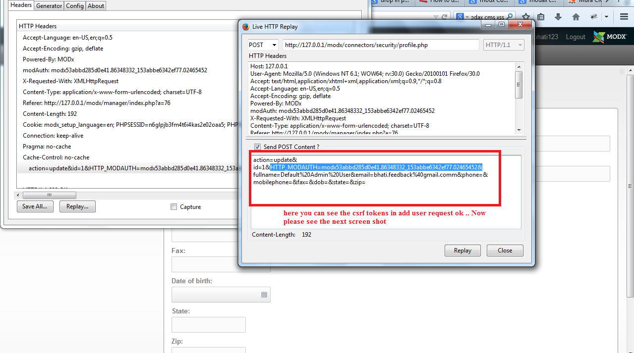 Web Security Geeks - The Security Blog: Modx XSS And CSRF