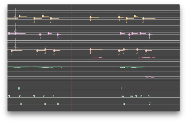 Guðmundur Steinn Gunnarsson: Sinfonia - snapshot of the score (Photo Guðmundur Steinn Gunnarsson)