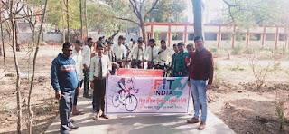 फिट इंडिया मूवमेंट अंतर्गत साइकिल रैली का आयोजन किया गया