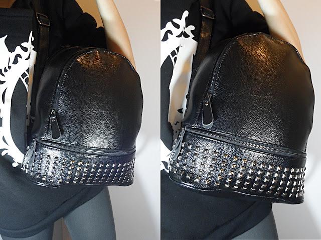 liz breygel bag review blogger fashion grunge rock gothic backpack