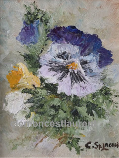 From Me To You, 5 x 4 oil painting by Quebec artist Clemence St. Laurent