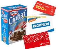 "Cameo ""Take Your Time"" : vinci 182 Gift Card da 100 euro (Ikea , Decathlon, Feltrinelli, ecc)"