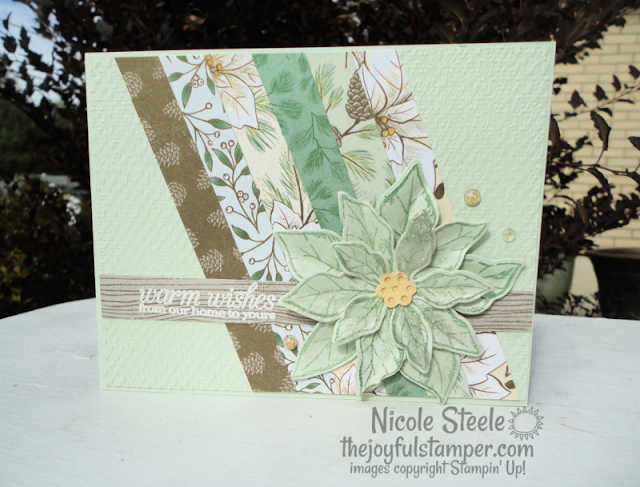 poinsettia place patterned paper, poinsettia petals, poinsettia dies, poinsettia petals bundle, stampin' up!, how to stamp, how to make a card, hobbies, papercrafting, papercrafts, nicole steele, the joyful stamper, independent stampin' up! demonstrator from pittsburgh pa