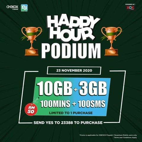 ONEXOX Happy Hour Podium
