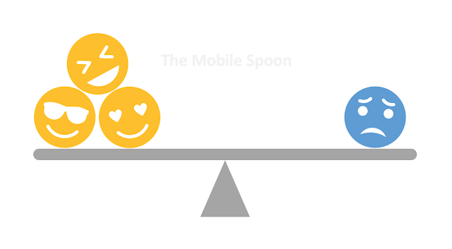 Negativity Bias: 1 negative emotion equals 3 positive ones - the mobile spoon