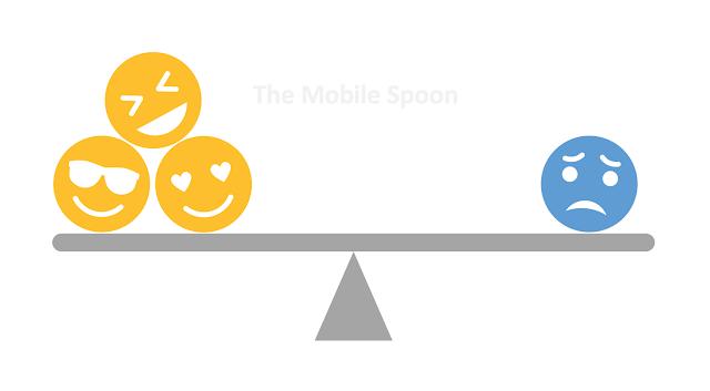 Negativity Bias: 1 negative emotion equals 3 positive ones - the mobile spoon