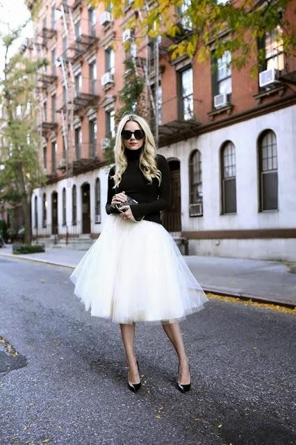 faldas de tul blanca