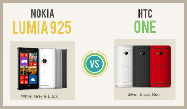 Nokia Lumia 925 Vs HTC One  #Infographic