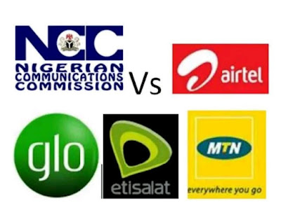 NCC, Airtel, Glo, 9Mobile and MTN