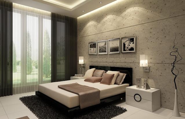 Minimalistische Schlafzimmer-Design