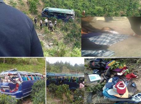 Bus Sekolah Masuk Jurang Di Samosir Desa Parmonangan, 3 Tewas Dan Puluhan Pelajar Luka-luka