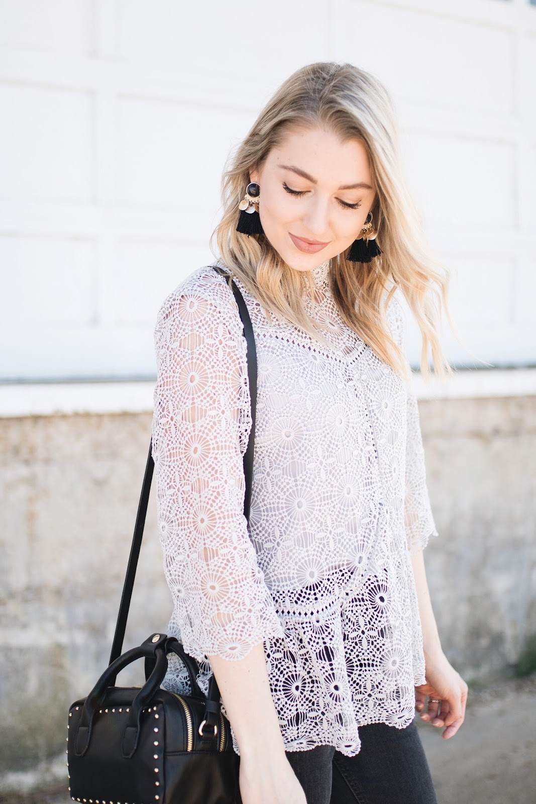 pretty crochet top for spring
