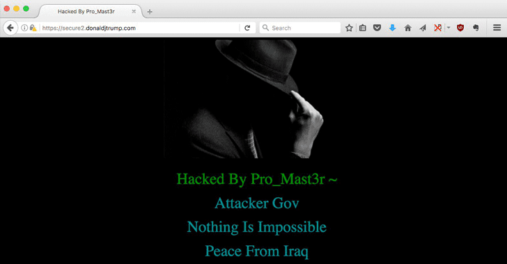 President Donald Trump's Website Hacked; Defaced By Iraqi Hacker