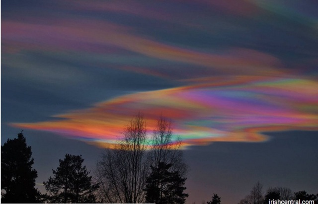 Rare, Stunning Rainbow Clouds Appear Over Ireland