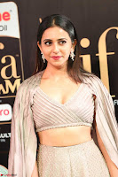 Cute Rakul Preet Singh in Deep Neck Cream Crop top Choli and Ghagra at IIFA Utsavam Awards March 2017  HD Exclusive Pics 09.JPG