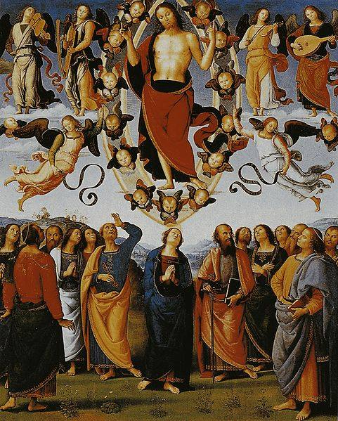 Ascensione di Gesù Cristo - Pietro Perugino - 1496 - 1500