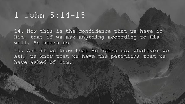 This is the confidence we have in approaching God: that if we ask anything according to his will, he hears us. And if we know that he hears us — whatever we ask — we know that we have what we asked of him.