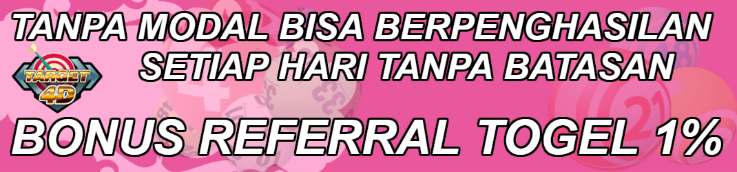 Bonus Referral Togel 1%