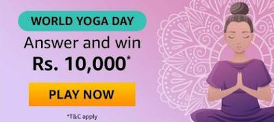 Amazon World Yoga Day Quiz Answers