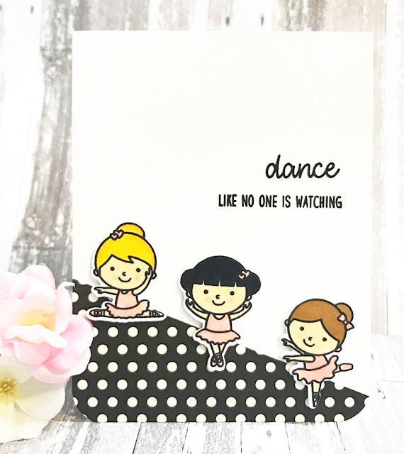 Sunny Studio Stamps: Tiny Dancer Customer Card by Lisa