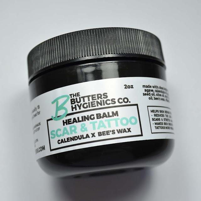 healing balm label
