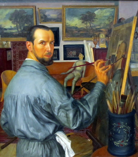 Alexandre Jacovleff, Self Portrait, Portraits of Painters